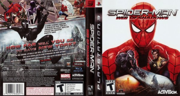 Jogo Spider-Man Web of Shadows - PS3 - Seminovo