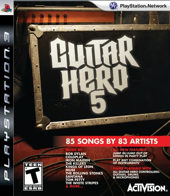 Jogo Guitar Hero 5 - PS3 - Seminovo