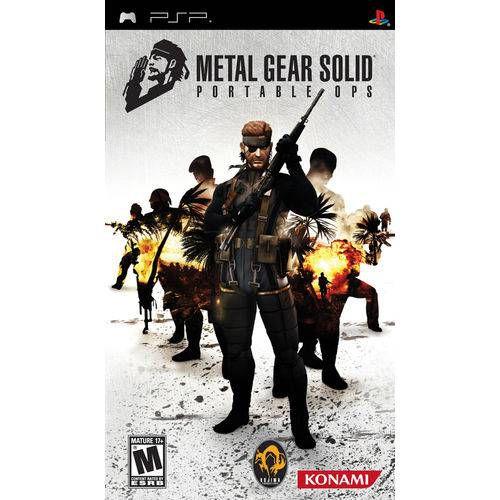 Jogo Metal Gear Solid Portable Ops PSP - Seminovo
