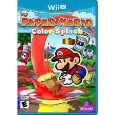 Jogo Paper Mario Color Splash - Wii U - Seminovo