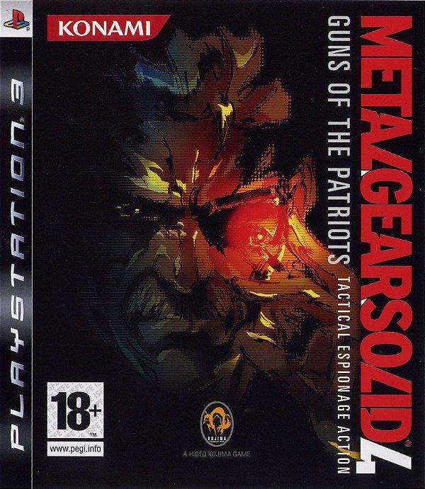 Jogo Metal Gear Solid 4: Guns of Patriots Tactical Espionage Action - PS3 - Seminovo
