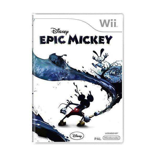 Usado: Jogo Disney Epic Mickey - Wii