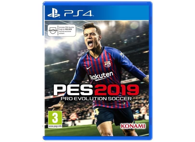 Usado: Jogo Pro Evolution Soccer 2019 - PS4