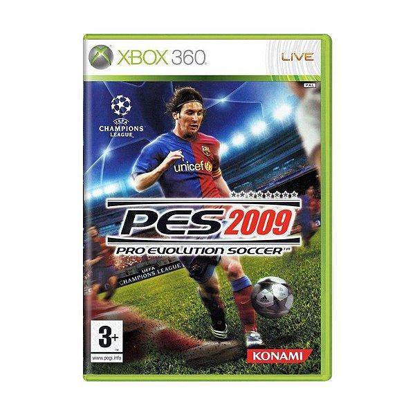Usado: Jogo PES 2009 (Europeu)- Xbox 360