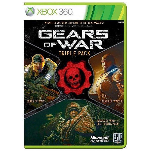 Usado: Jogo Gears of Wars - Triple Pack - Xbox 360