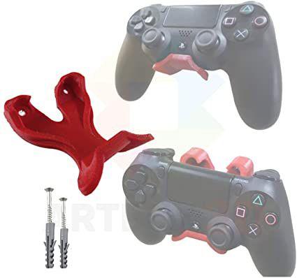 Novo: Suporte De Parede - Controle PS4 Com Apoio e Parafusos