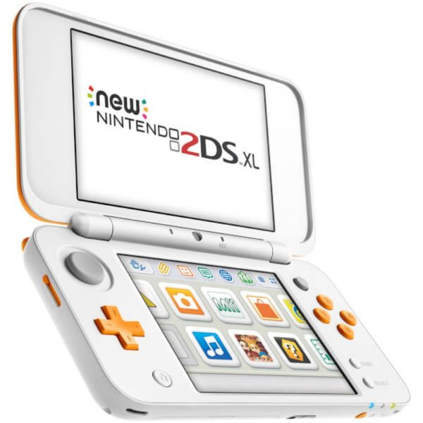 Usado: Console Nintendo New 2DS  - Branco e Laranja