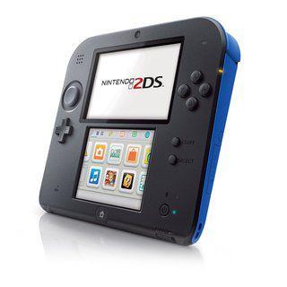 Usado: Console Nintendo 2DS  -  Preto e Azul