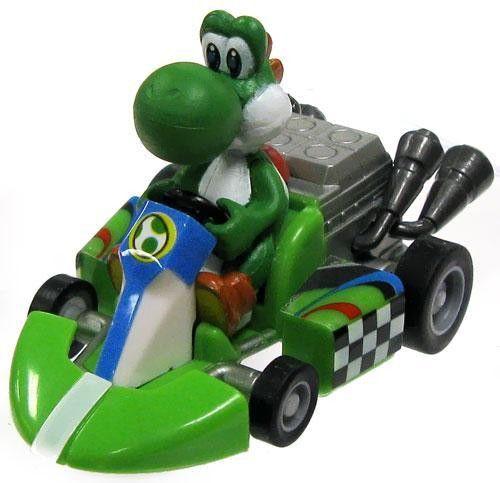 Novo: Super Mario Kart: Original Mini Figuras Pull-Back Racers - Yoshi