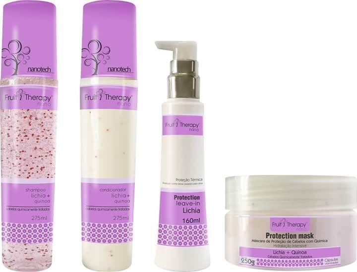 Kit Tratamento Capilar Fruit Therapy Left com 4 Itens à Escolher (Para 6 Tipos de cabelos)