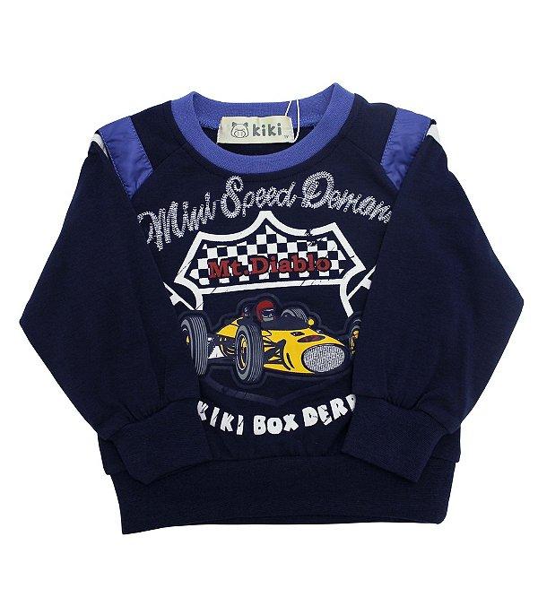 Camiseta Manga Longa de Bebê Fórmula1 Kiki