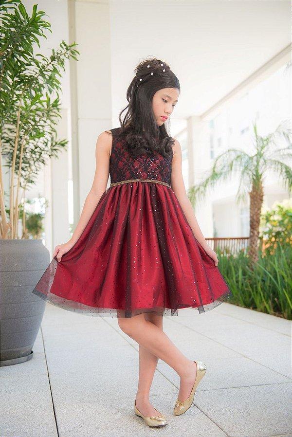 Vestido Festa Vermelho Mily
