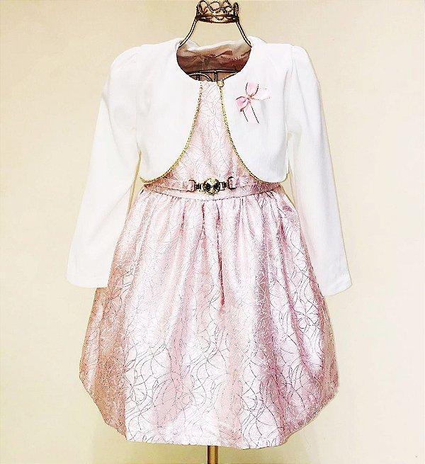 Vestido Rosa com Bolero Mily 4-12