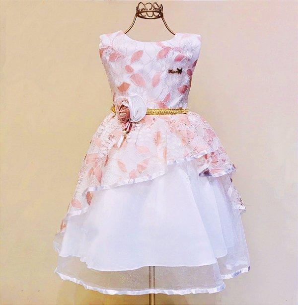 Vestido Rosa Renda