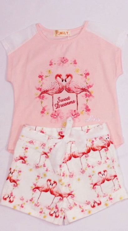 Conjunto Flamingo Mily