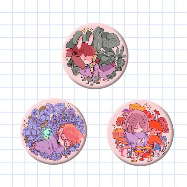 Bottons - Little Witch Academia