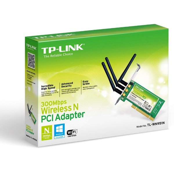 ADAPTADOR PCI EXPRESS TP-LINK TL-WN951N 300MBPS