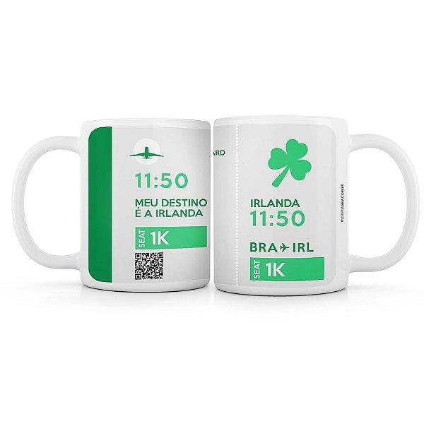 Caneca meu destino é a Irlanda