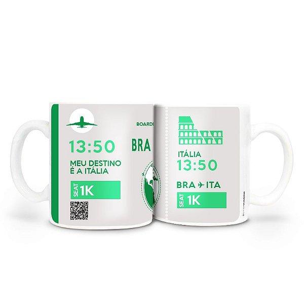 Caneca - Bilhete Aéreo Itália