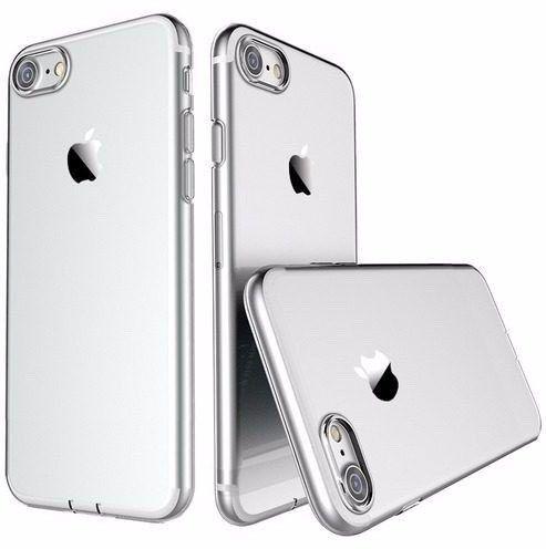 Capinhas para iphone 7 de silicone gel top premium  transparente protetora