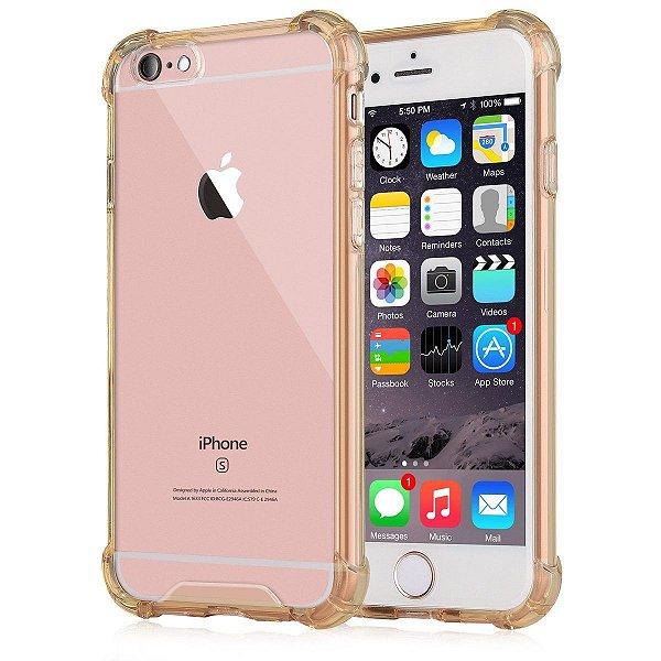 Capinhas para Iphone 6/6s plus com bordas translucida tpu silicone gel anti impacto