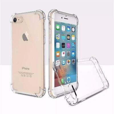 Capinhas para Iphone 8 PLUS com bordas translucida tpu silicone gel anti impacto