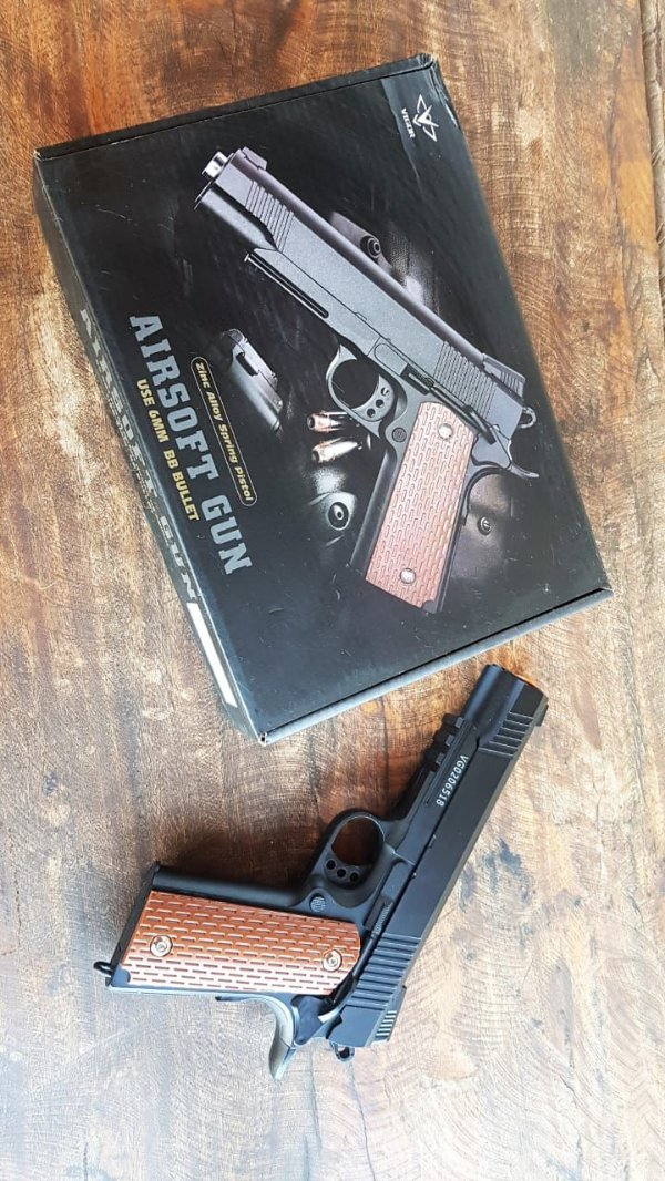 Pistola Airsoft VG 1911-V13 METAL MOLA 6MM