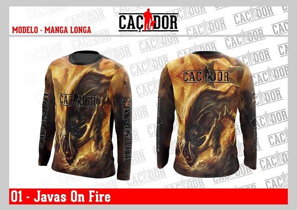 Camiseta Dry Fit UV Java's on Fire