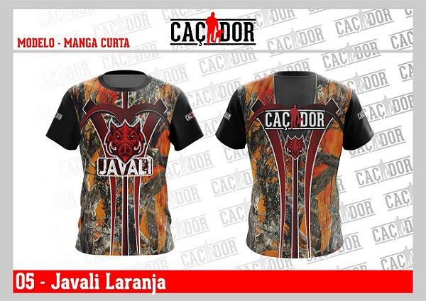 Camiseta Dry Fit U.V. Seleção Javali Laranja
