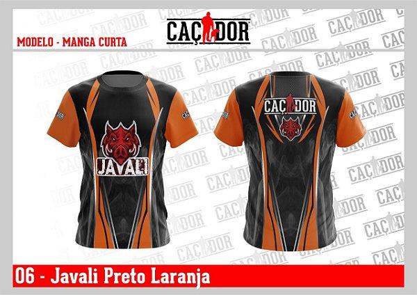 Camiseta Dry Fit U.V. Seleção Javali Preta
