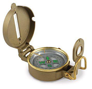 Bussola Metal Case Liquid Filled Lensatic Compass 360° Degree