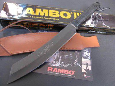 Faca Rambo 4 Tática Militar sobrevivência Caça Pesca Camping