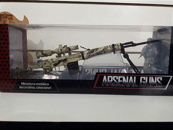 Miniatura em metal - Arma modelo SVD 001
