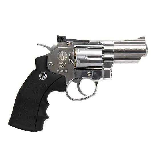Revolver Pressão Wingun 708S CO²  4,5 mm