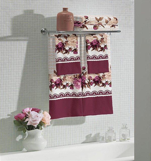 Jogo de banho Flora - 5 peças