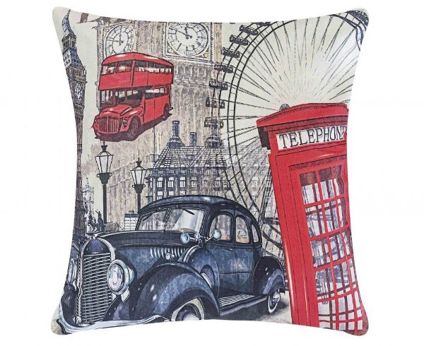 Capa Almofada Fantasy + Almofada - Londres
