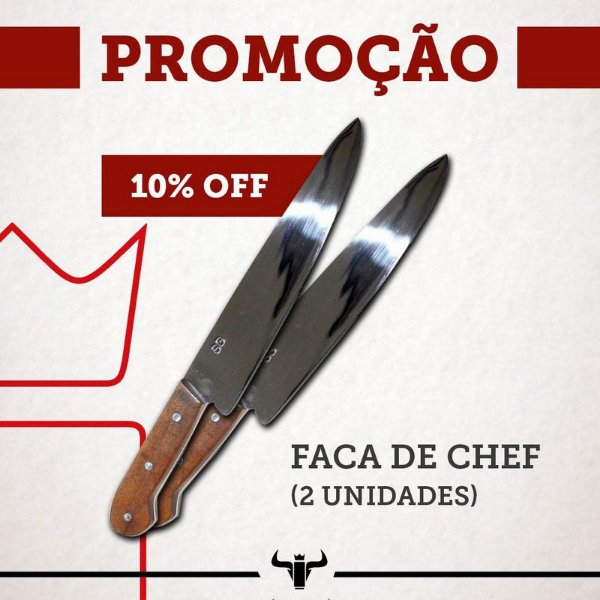 KIT 2 FACAS DE CHEF 10""