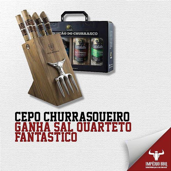 """CEPO CHURRASQUEIRO – GANHE KIT DE SAL """"QUARTETO FANTASTICO"""""""