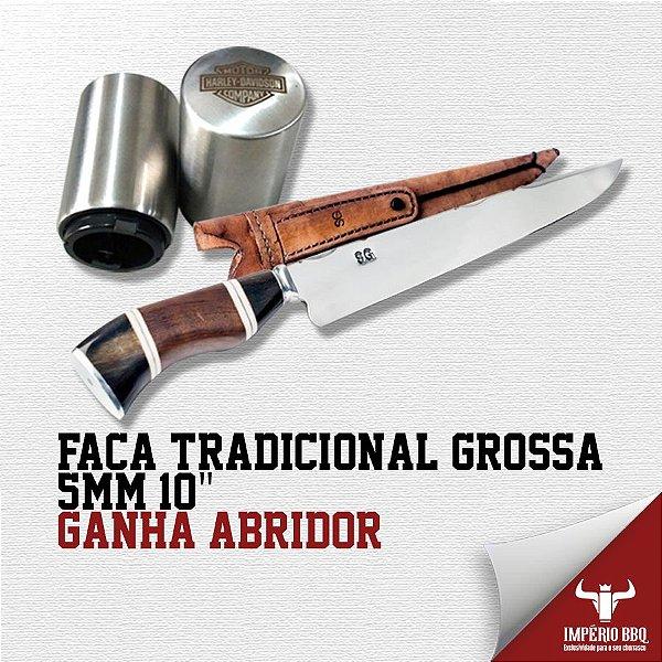 """FACA TRADICIONAL GROSSA 5MM 10"""" – GANHE ABRIDOR"""
