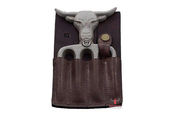 Garfo Bad Bull 4 Dentes - Rústico c/ Bainha