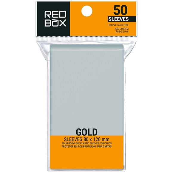 Sleeves Redbox: GOLD 80 x 120 mm - pacote c/ 50