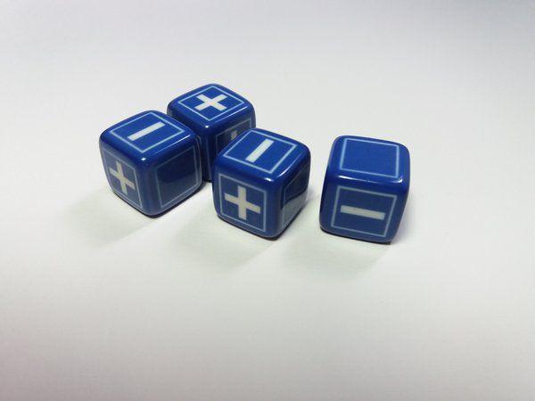 Dados Fate - Kit com 4 Dados