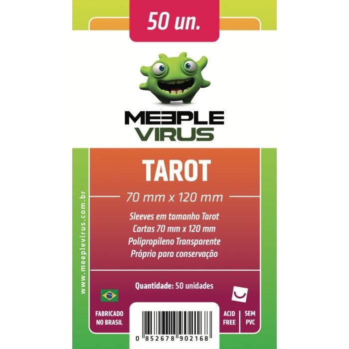 Sleeves Meeple Virus: Tarot (70 x 120 mm) – Pacote c/50