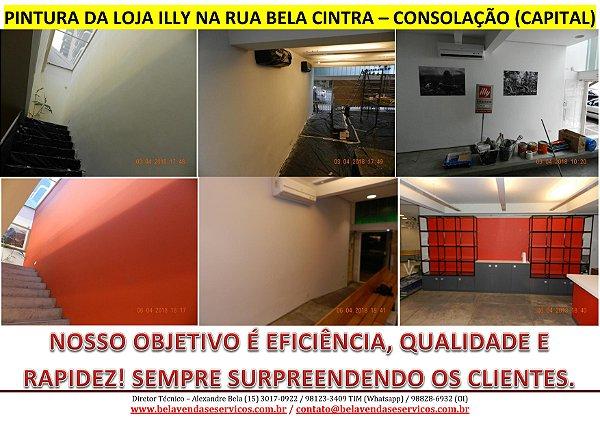 PINTURAS DE LOJAS EM SHOPPING E DE ALTO PADRÃO NA CONSOLAÇÃO - SP