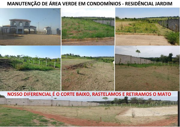 Jardinagem em indústrias, condomínios, chácaras, sítios, empresas, casas e terrenos.