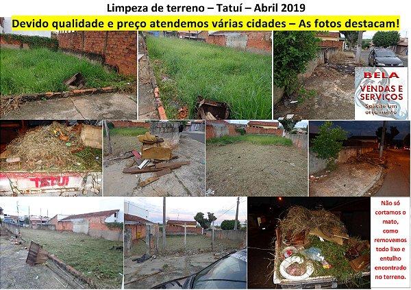 Limpeza de terrenos em várias cidades