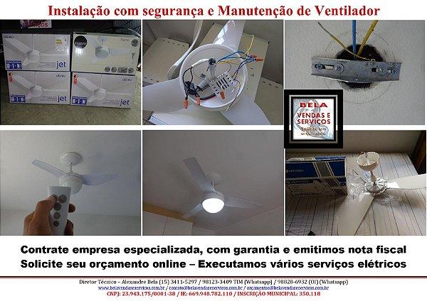 Instalação e Manutenção em ventiladores