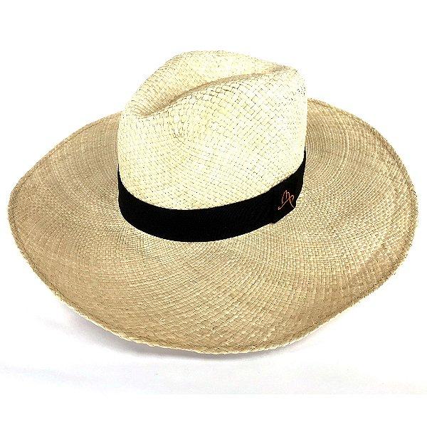 Chapéu de Palha Natural Aba Grande Cru