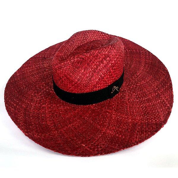 Chapéu de Palha Natural Aba Gigante Telha
