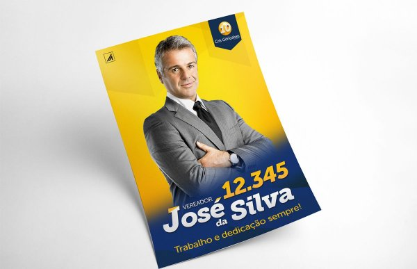 Identidade Visual e Site para Política - Logotipo, Adesivo, Santinho, Banner, Timbrado, Capa Facebook, Post Instagram, Assinatura de email e Site Pessoal.